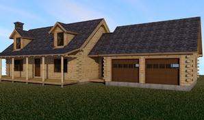 Hamilton Log Home Floorplan