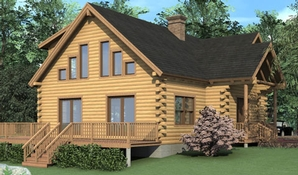 Mendon Log Home Floorplan