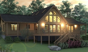 Richmond Log Home Floorplan