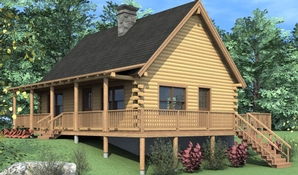 Rockville Log Home Floorplan