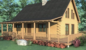 Sonora Log Home Floorplan