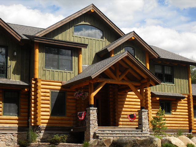 C.M. Allaire is building modern log homes for the next generation of buyers