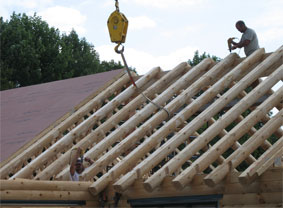 Log Home Roof Construction