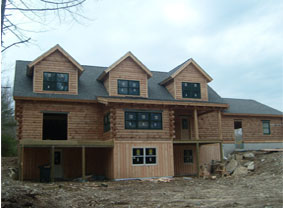Log Home Construction Completed Exterior
