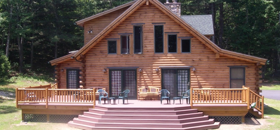 CM Allaire Log Home Cabin Builders Mendon MA