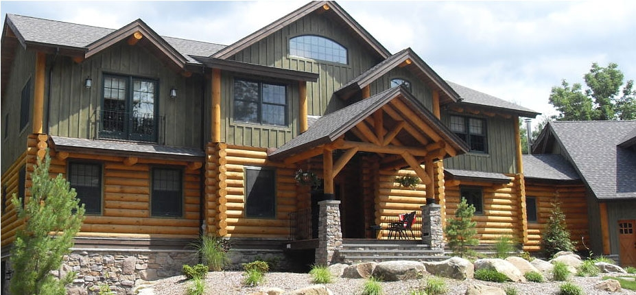 Log Home Build CM Allaire
