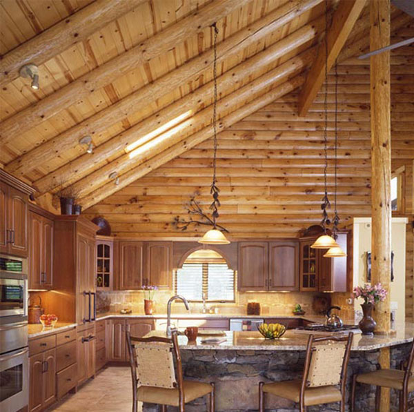 Full Log Roof Rafters